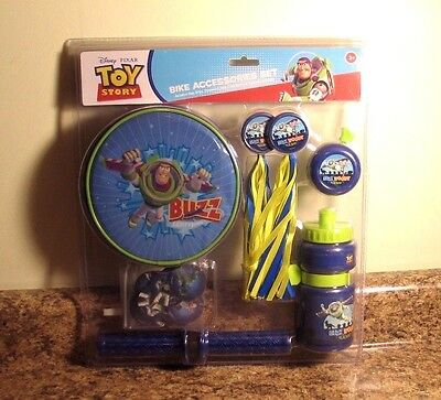 Disney Toy Story Bike Accessories Kit Grips Bell NEW