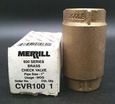 Merrill Cvr100 Brass Check Valve