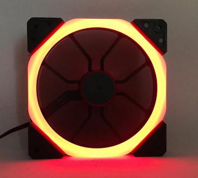 Lot of 10 120mm Gaming PC Computer Case RED LED Silent Cooling Fans DC 12V .45A