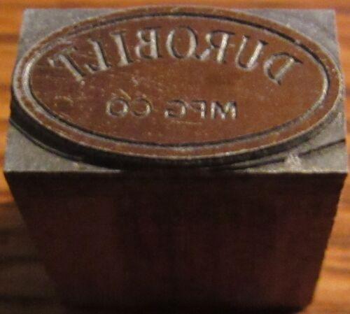 Vintage Durobilt MFG. Co. Nampa, ID Wooden Printing Block - Idaho