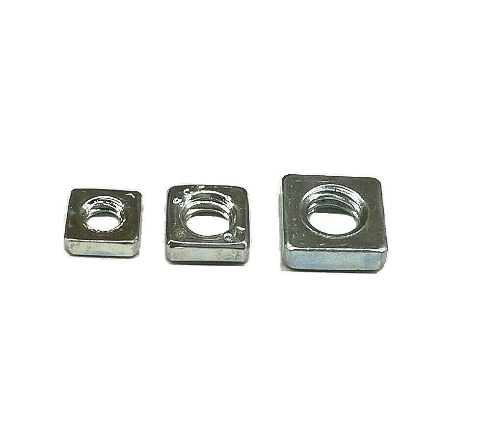 Vierkantmutter Gewindeplatte Vierkantmuttern DIN 562 niedrig Verzinkt  Edelstahl
