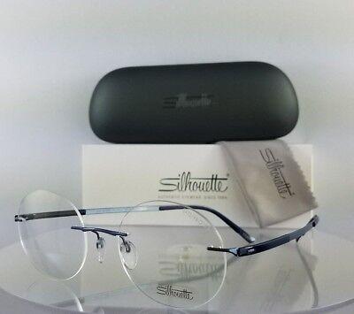 Brand New Authentic Silhouette 5410/6060 Eyeglasses Blue Rimless Frame 5410