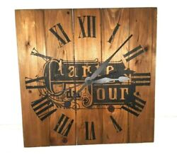 Ashton Sutton Wooden Wall Clock. Carte du jour. country/cottage/kitchen