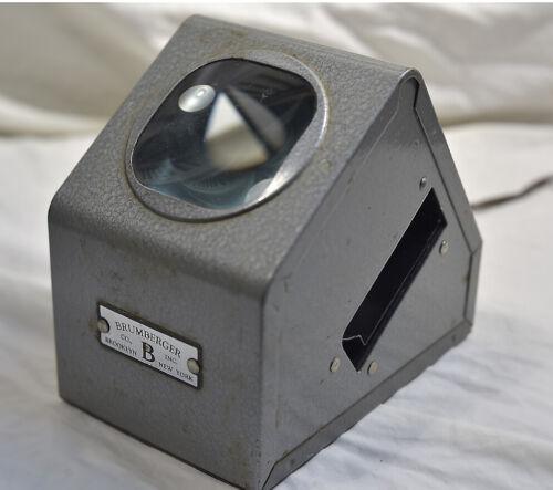 VINTAGE BRUMBERGER ELECTRIC 35MM SLIDE VIEWER