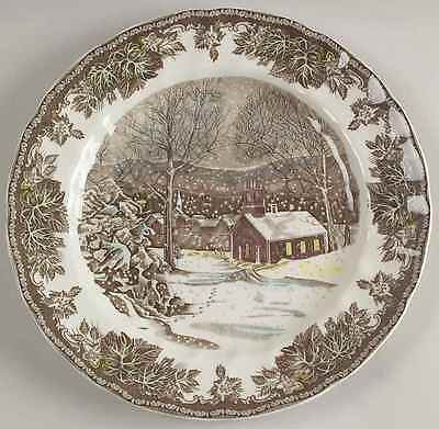 Johnson Bros The Friendly Village School House Dinner Plate  Imperfect  8599209
