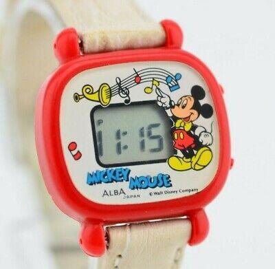 I148 Vintage Alba Mickey Mouse Digital Quartz Watch W598-4A00 Original JDM 61.4