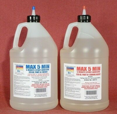 5 Minute Epoxy Glue Fast Set Time Toughened Strong Bulk Low Cost Per Oz -2 Gal