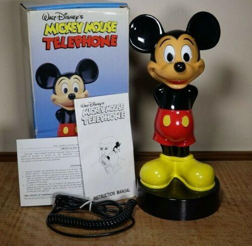 Rare Vintage 1988 Mickey Mouse One-Piece PhoneDisney Synanon