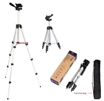 O90 Universal Aluminum Portable Tripod Stand Camera W/ Bag Canon Nikon Olympus