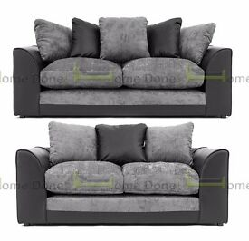 **14-DAY MONEY BACK GUARANTEE!** Dylan Chenille Fabric 3 and 2 Sofa Set or Corner Sofa - SAME DAY!