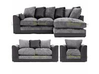 **FREE UK DELIVERY** Dylan Chenille Fabric Corner Sofa Suite *14-DAY RETURNS POLICY!*