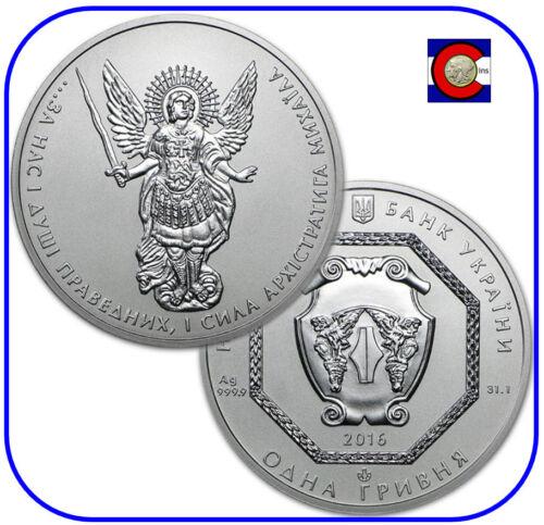 2016 Ukraine Archangel Michael Silver 1 oz Coin in original capsule
