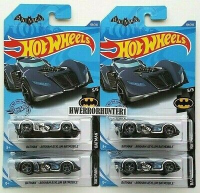 2020 Hot Wheels Arkham Asylum Batmobile Treasure Hunt Lot of 4