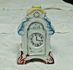 Vintage Made In Japan China Porcelain Antique Shelf Kitchen Clock Small Figure
