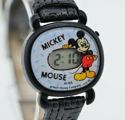 I160 Vintage Alba Mickey Disney Digital Quartz Watch W205-4190 Original JDM 61.4