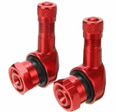 2x RED CNC Aluminum Motorcycle 90 Degree Angle Wheel Tire Stem Tubeless Valve