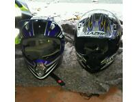 2x motorcross helmets