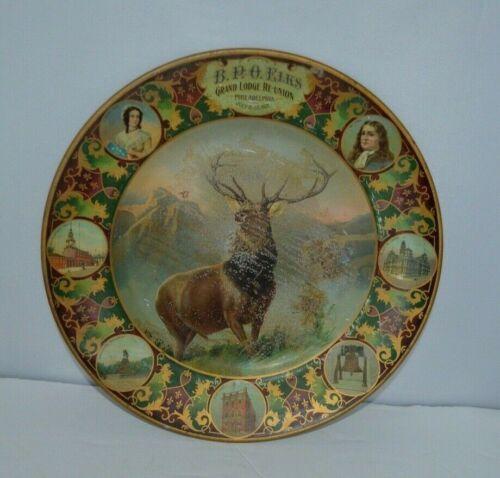 Commemorative Plate B.P.O. Elks Grand Lodge Re-union Philadelphia 1907