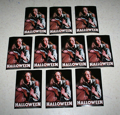 Lot 10 Halloween Stickers 1978 Jamie Lee Curtis S-1554 C&D Visionary 5