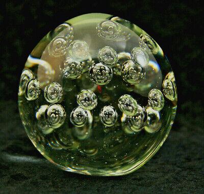 Briefbeschwerer Glas Kugel  9 cm 2 Stück Paperweight