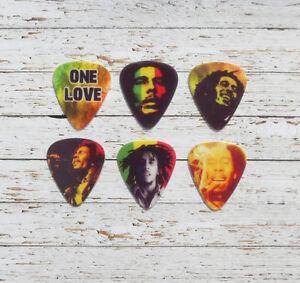 12 BOB MARLEY custom jamaican electric or acoustic guitar plectrums picks