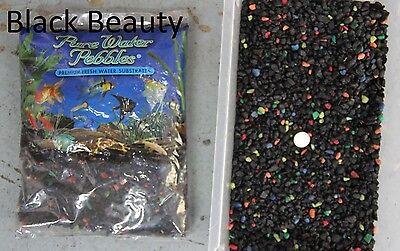 Black Beauty - 5 lbs Aquarium Fish Tank Gravel, Pure Water Pebbles color rocks