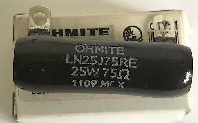 Ln25j75re Ohmite 25 Watt 75 Ohm 5 Wirewound Vitreous Enamel Resistor