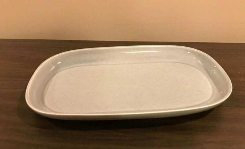 Russel Wright Oval Serving Platter Steubenville American Modern Granite Gray