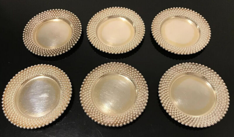 """Antique/Vintage Set of (6) Tiffany & Co. Sterling Silver Candy Plates 3"""""""