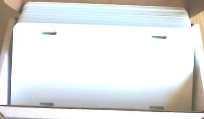 100pcs.024 6x12gloss White Aluminum License Platecar Tag Blanks Masked
