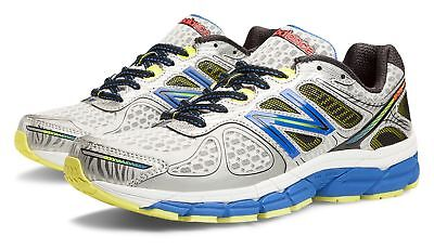 New Balance Mens 860V4 Stability Running Shoes Silver With Blue   Yellow