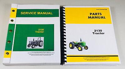 Service Parts Manual Set For John Deere 2130 Tractor Repair Shop Book Overhaul