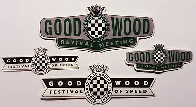 2x Goodwood Revival and 2x Festival of Speed Vinyl Stickers