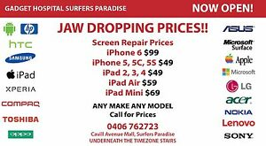 IPHONE SCREEN i6 $79; i6+ $99; i5 5C 5S $49 ON THE SPOT REPAIR Surfers Paradise Gold Coast City Preview