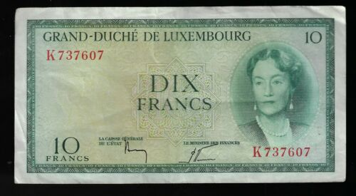Luxembourg 10 Francs 1954  Banknote Pic #48