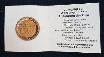 """Mds Alemania Certificado de Autenticidad para Monedas Oro 2002"""" Unión Monetaria"""" segunda mano  Embacar hacia Mexico"""