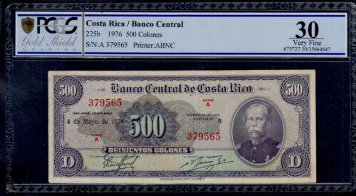 COSTA RICA  500  COLONES  1976   PICK # 225b PCGS 30 VERY FINE5