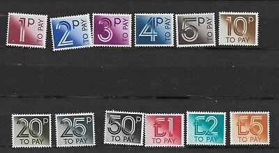 complete set of 1982  MINT N.H. POSTAGE DUES.