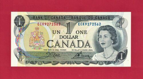 CHOICE / GEM-UNC / CRISP One 1 DOLLAR 1973 OTTAWA CANADA Note (P-85c) Last Issue