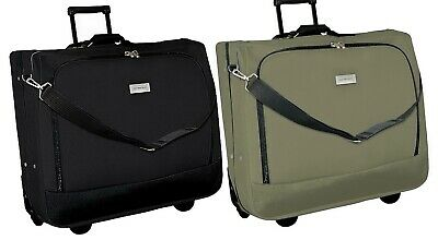 Rolling Garment Bag Clothes Carrier Luggage Geoffrey Beene Clothing Case ()