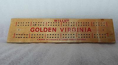 Wills Golden Virginia Crib Board  smoking tobacco cribbage card games
