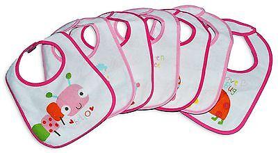 Baby Lätzchen 7er Set Latzchen neu für  Mädchen Tiere #57#