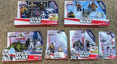 17 Playskool Star Wars Galactic Figs Poe BB8 Phasma Dewback Flametrooper Luke