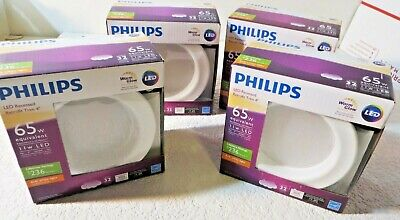 """Philips 65W Soft White LED 4"""" Retrofit Recessed Can Light TWO PER ORDER"""