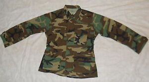 BDU-SHIRT-GI-WOODLAND-CAMO-50-50-NYCO-RIPSTOP-MED-REG-1999-ISSUE-GOOD