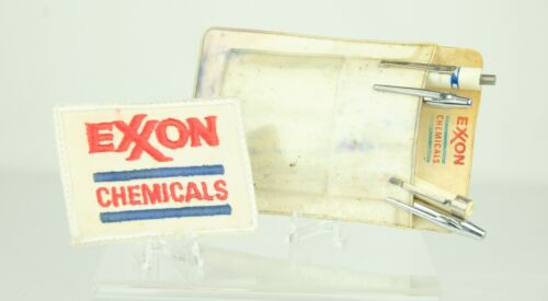 Vintage Exxon Chemical Engineer Lot - Patch Pocket Protector Screwdriver Magnet