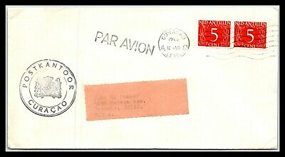 GP GOLDPATH: NETHERLANDS ANTILLES COVER 1965 AIR MAIL _CV681_P24