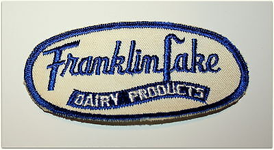 2 Rare Franklin Lakes Dairy Farm Milk Products NJ Uniform Patch 1960s NOS