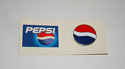 Vintage 1990s Pepsi-Cola Pepsi Soda Advertising Collectible Pin on Card New NOS