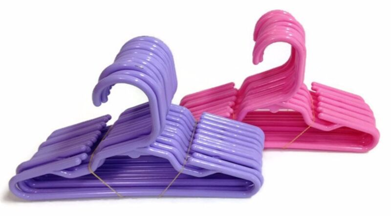12 Pink & 12 Lavender Hangers(2 Dozen) for 18 inch American Girl Doll Clothes